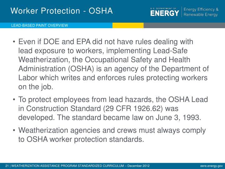 Worker Protection - OSHA