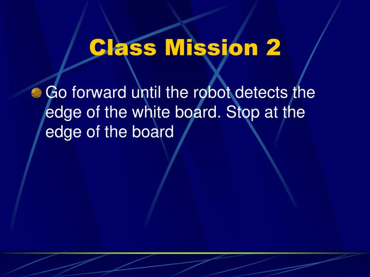 Class Mission 2