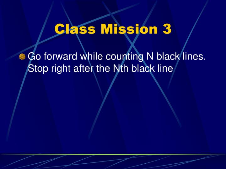 Class Mission 3