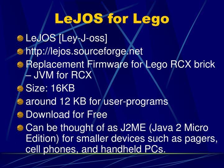 LeJOS for Lego