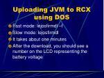 uploading jvm to rcx using dos