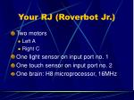 your rj roverbot jr