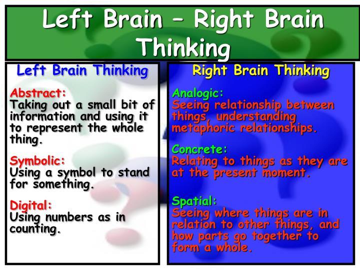 Left Brain Thinking