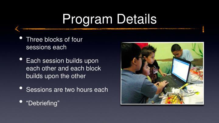 Program Details