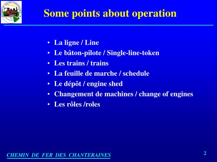 Some points about operation