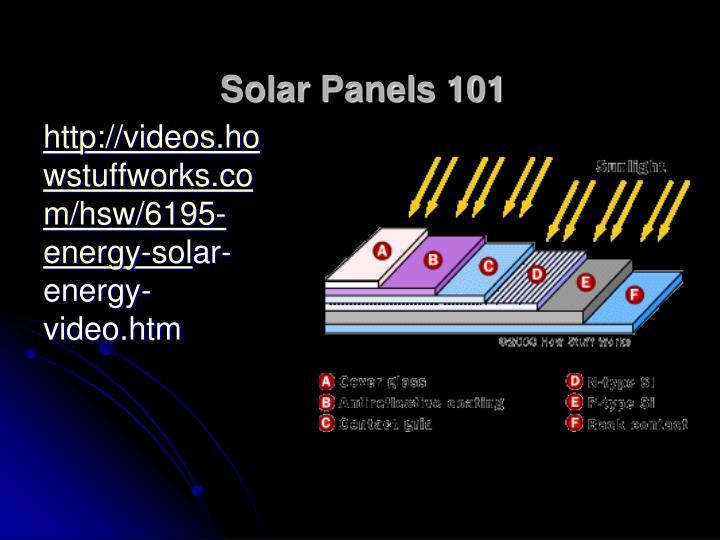 Solar Panels 101