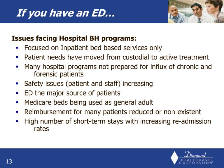 Issues facing Hospital BH programs: