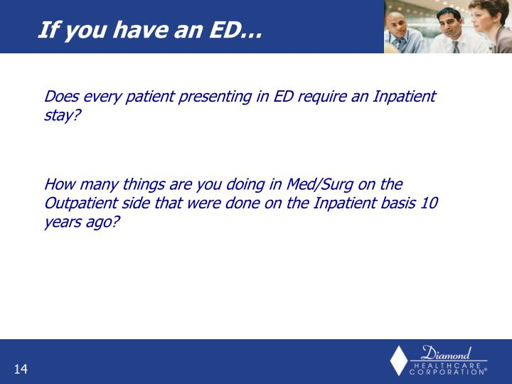 Does every patient presenting in ED require an Inpatient stay?