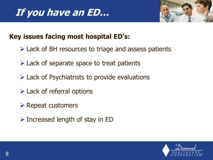 Key issues facing most hospital ED's: