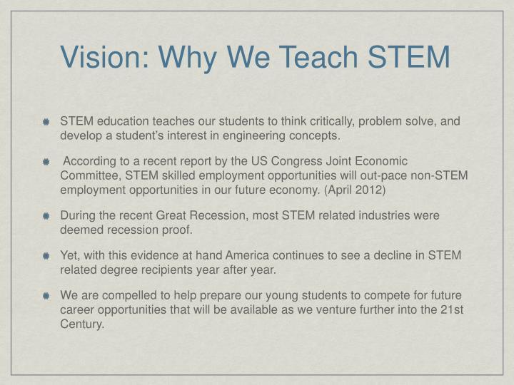 Vision: Why We Teach STEM