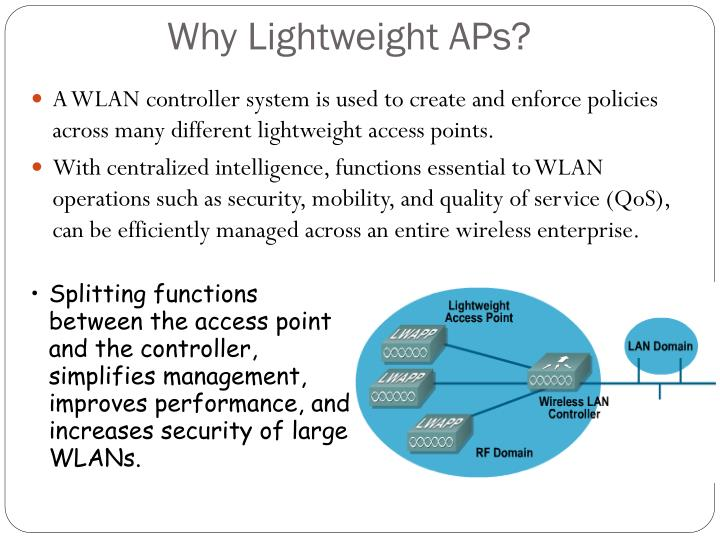 Why Lightweight APs?