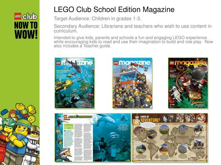 LEGO Club School Edition Magazine