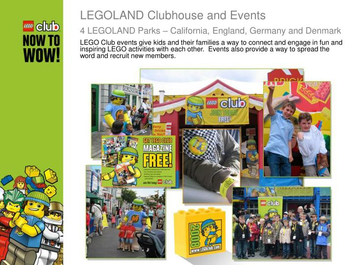LEGOLAND Clubhouse and Events