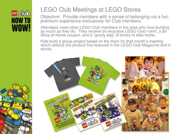 LEGO Club Meetings at LEGO Stores