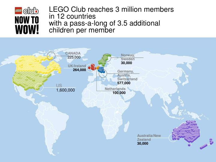 LEGO Club reaches 3 million members in 12 countries