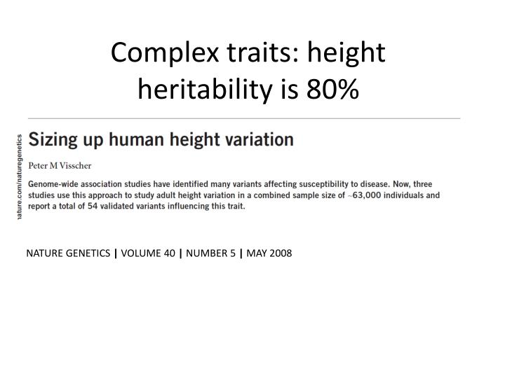 Complex traits: height