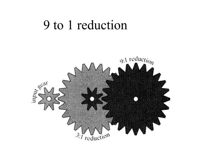 9 to 1 reduction
