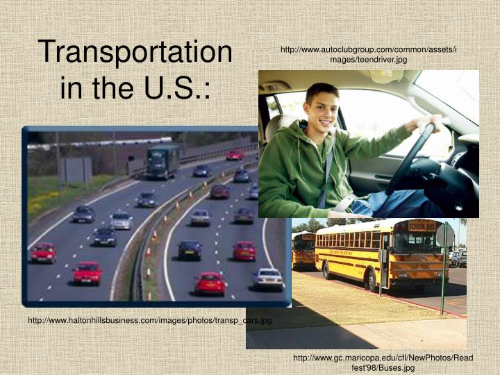 Transportation in the U.S.: