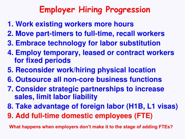 Employer Hiring Progression