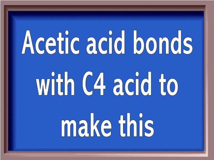 Acetic acid bonds