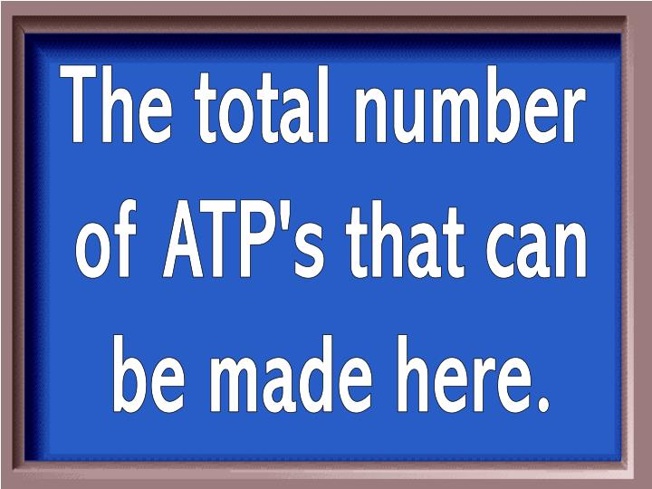 The total number