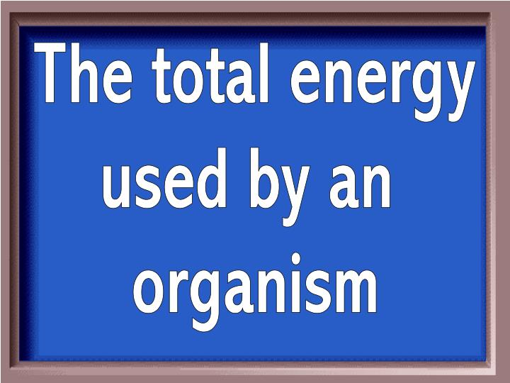 The total energy