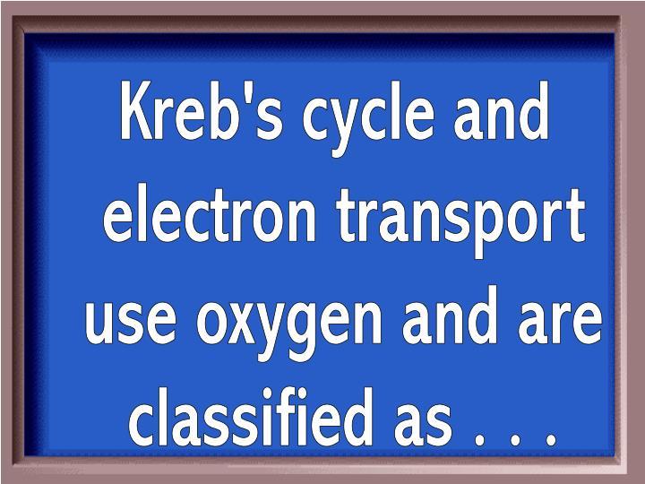 Kreb's cycle and
