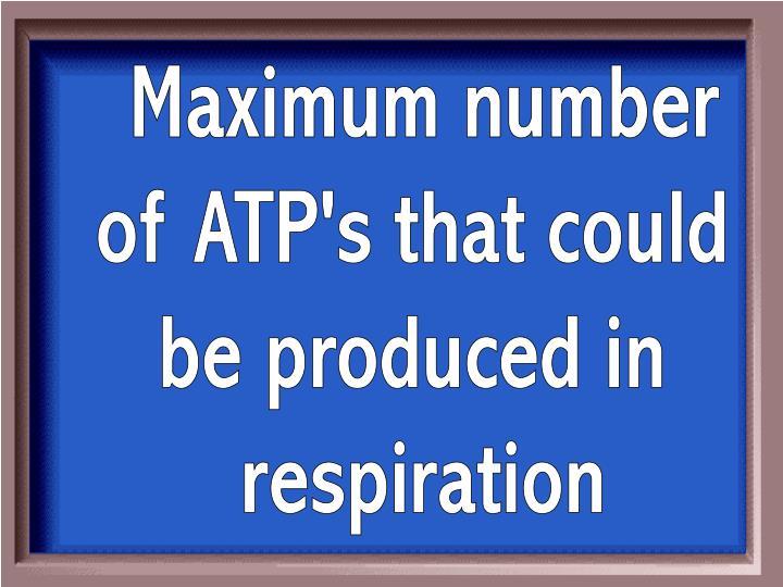 Maximum number
