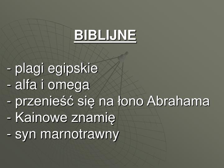 BIBLIJNE