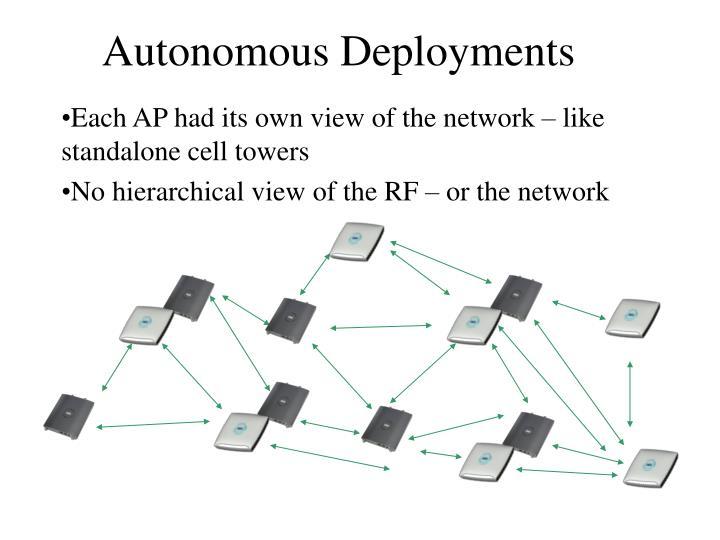 Autonomous Deployments