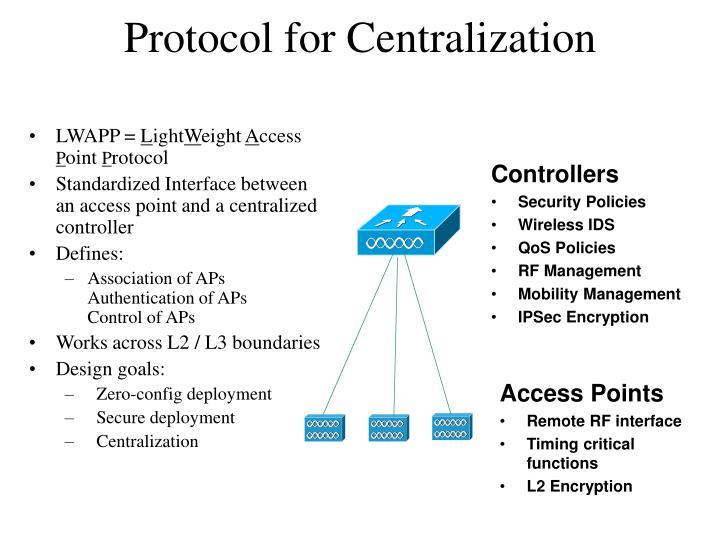 Protocol for Centralization