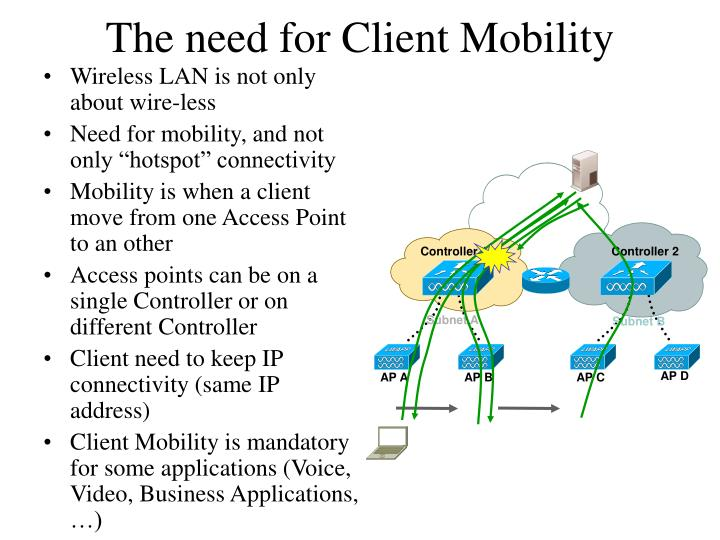 The need for Client Mobility