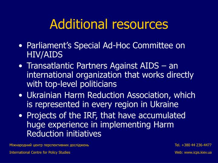 Parliament's Special Ad-Hoc Committee on HIV/AIDS