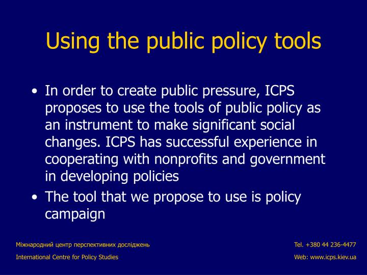 In order to create public pressure, ICPS proposes to use the tools of public policy as an instrument to make significant social changes. ICPS has successful experience in cooperating with nonprofits and government in developing policies