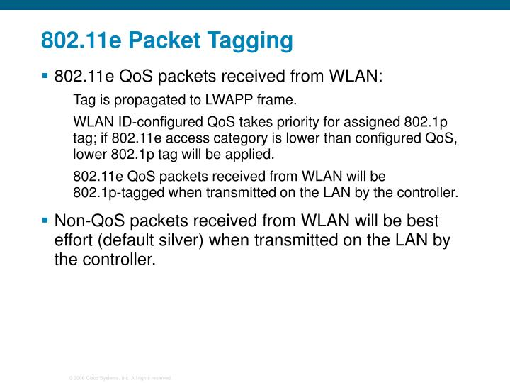 802.11e Packet Tagging