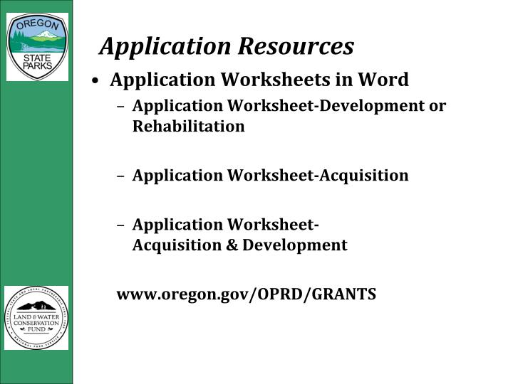 Application Resources