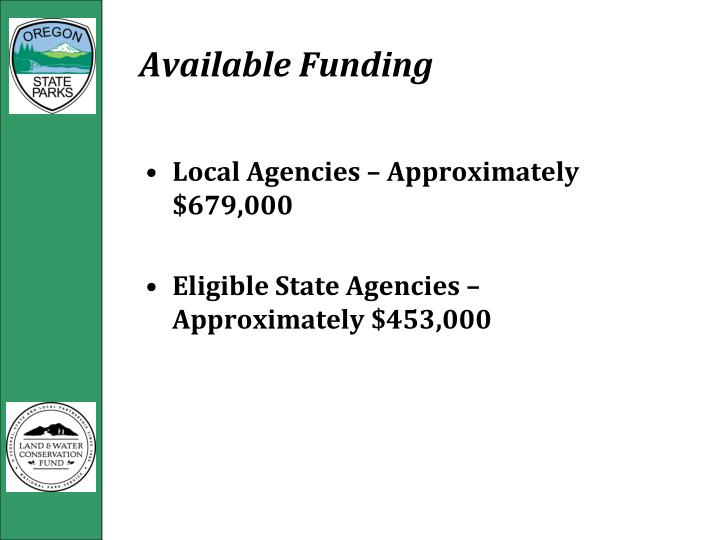 Available Funding