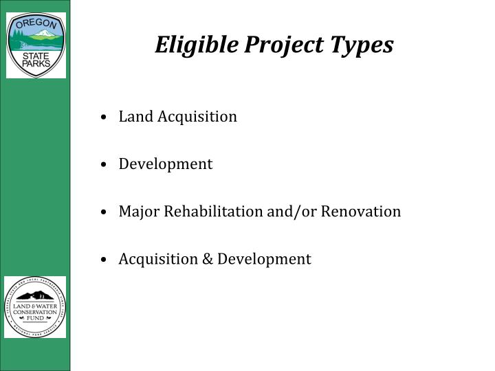 Eligible Project Types