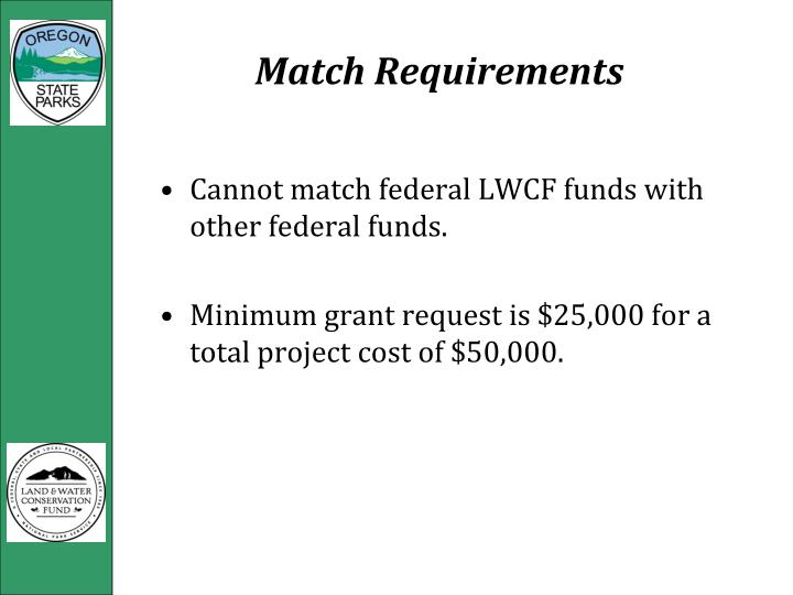 Match Requirements