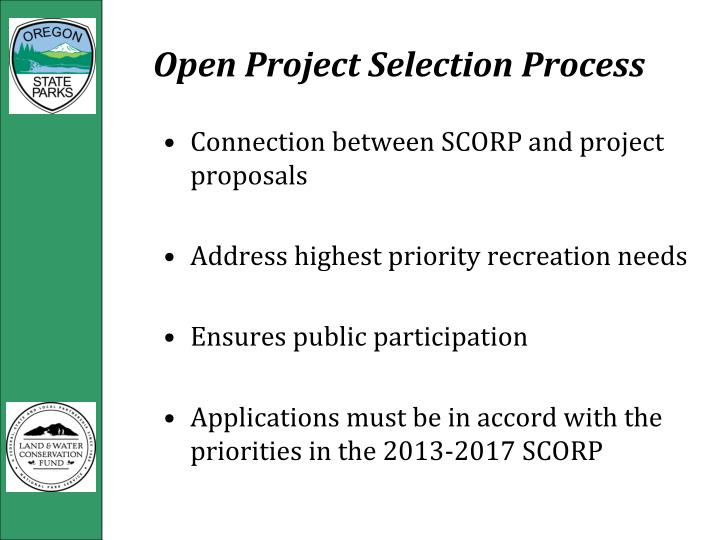 Open Project Selection Process