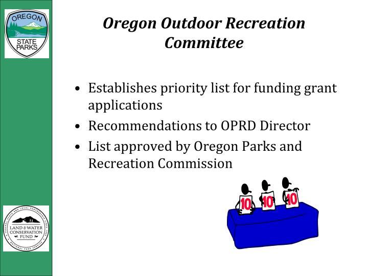 Oregon Outdoor Recreation Committee