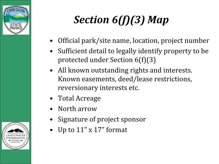 Section 6(f)(3) Map