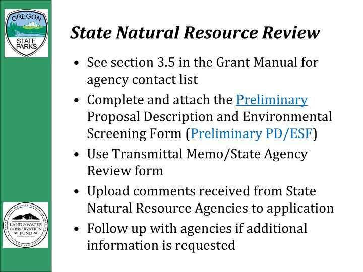 State Natural Resource Review