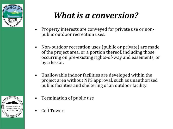 What is a conversion?