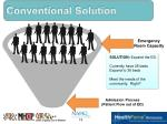 conventional solution