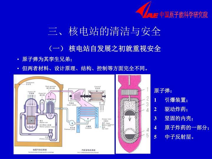 三、核电站的清洁与安全