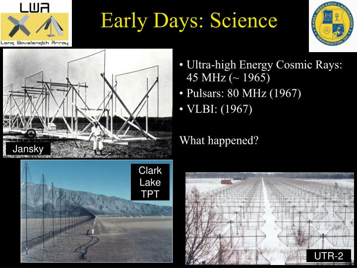 Early Days: Science