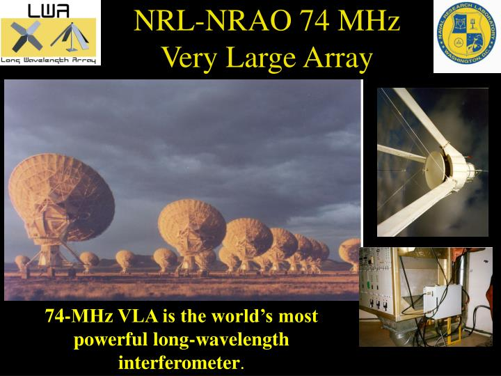 NRL-NRAO 74 MHz Very Large Array