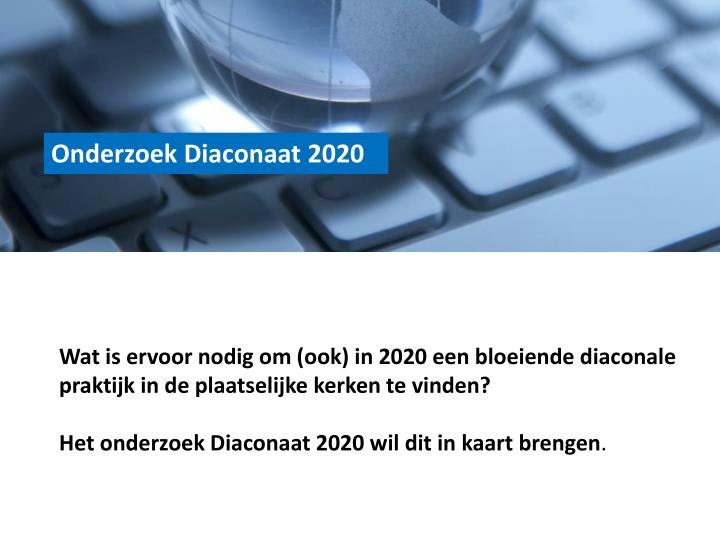 Onderzoek Diaconaat 2020