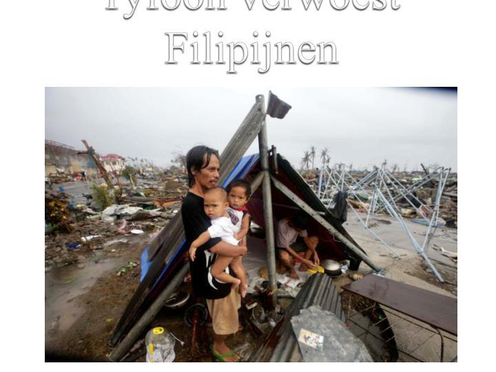 Tyfoon verwoest